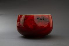 Delicious Red Timber Art Bowl #timber #wooden #unique #handmade #art