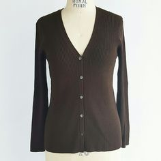 J. Crew Ribbed Sweater Button Front Cardigan J. Crew Ribbed Sweater Button Front Cardigan in Brown. 86% cotton, 12% nylon 2% spandex Poshmark transactions only, open to offers! J. Crew Sweaters Cardigans