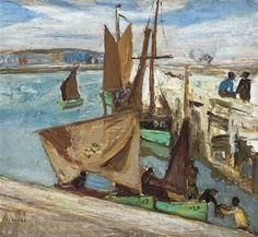 Vissershaven te Oostende - Constant Permeke