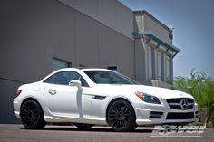 "Mercedes Benz 2013 SLK w/ 19"" Mandrus Rotec by Wheel Specialists, Inc. in Tempe AZ . Click to view more photos and mod info."
