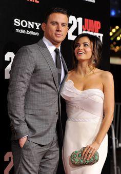 I love the dress and clutch! Channing Tatum and Jenna Dewan Cute Pictures | POPSUGAR Celebrity