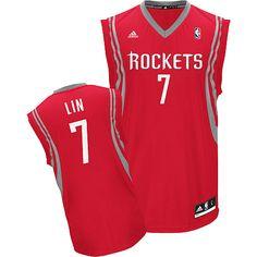 d9a233ef9 Adidas NBA Houston Rockets 7 Jeremy Lin New Revolution 30 Swingman Road Red  Jersey