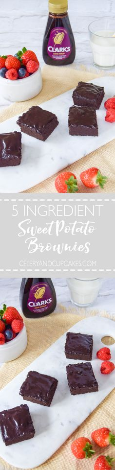 Deliciously dense gluten free brownies made with sweet potato and only 5 ingredients.