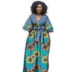 Long Ankara Dresses, African Maxi Dresses, African Fashion Ankara, Latest African Fashion Dresses, African Dresses For Women, African Print Fashion, African Attire, South African Dresses, African Style