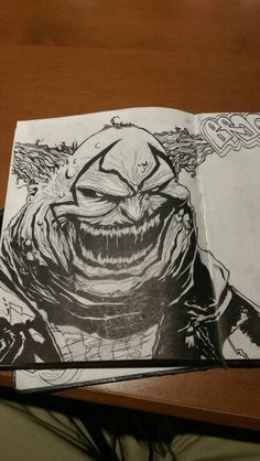 #spawn #clowns #comics #illustrations #art #artbyfusion #sketches #ink #blackbook #creatures #characters #monsters #smiles