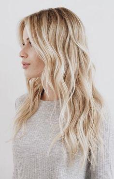 Blonde + beach waves.