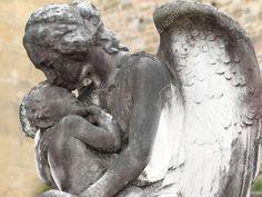 Stock Photo - angel and child- antique sculpture on cemetery SCULPTURES ANGELS Cemetery Photograph - Pesquisa Google