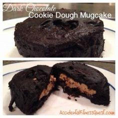 Dark Chocolate Mugcake with Cookie Dough Filling