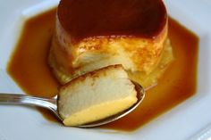 Flan de pina or pineapple flan