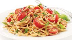 Linguines, sauce aux tomates fraîches