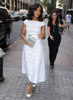 Image result for kerry washington white dress