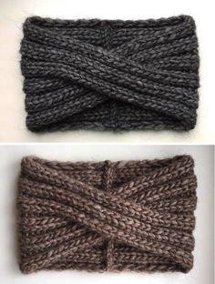 Knit Headband Pattern, Knitted Headband, Knitting Projects, Knitting Patterns, Crochet Patterns, Bandeau Torsadé, Knit Crochet, Crochet Hats, Knitting Accessories