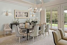 This delectable dining room is the work of interior designer, Eileen Marcuvitz.  Eileen's work can be seen in fine homes from Boston to Newport, RI.