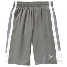 Old Navy Boys Active Basketball Shorts - Gray stone ($16) ❤ liked on Polyvore featuring middle bottoms