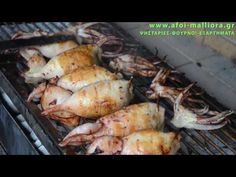 YouTube Charcoal Recipe, Food Network Recipes, Cooking Recipes, Greek Appetizers, The Kitchen Food Network, Greek Recipes, Fish And Seafood, Food And Drink, Pork