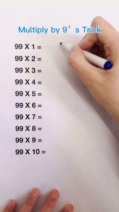 High School Life, Life Hacks For School, School Study Tips, School Tips, Cool Math Tricks, Maths Tricks, Math Hacks, Math Tips, Math For Kids