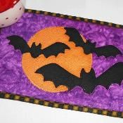Halloween Bats Mug Rug - via @Craftsy