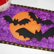 Halloween Bats Mug Rug - via @Craftsy