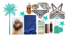 """""""Summer and Surf"""" by m64fangirl ❤ liked on Polyvore featuring Seafolly, Dot & Bo, Casetify, Vera Bradley, COVERGIRL, Essie and Ippolita"""