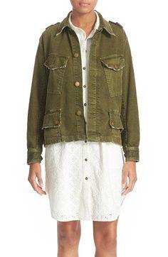 Current/Elliott 'Slanted Pocket' Army Jacket available at #Nordstrom