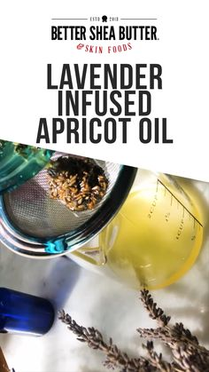 This recipe shows you how to infuse an oil with dry lavender, but applies to any types of dry flowers you'd like to use Dried Lavender Flowers, Dry Flowers, Lavender Oil, Homemade Moisturizer, Moisturizer For Oily Skin, Dry Skin Remedies, Diy Shampoo, Apricot Oil, Skin Food