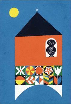 owl always sees at night! Book Design, Design Art, Design Styles, Love Illustration, Japanese Illustration, Picture Design, Japanese Art, Illustrations Posters, Graphic Art