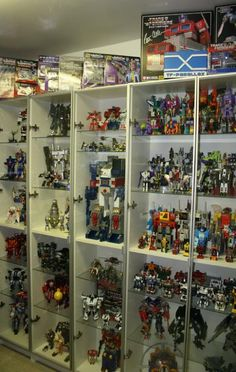Transformers display in BILLY bookcase