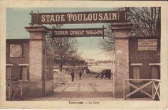 Entrée du stade Ernest-Wallon en 1920.  © F. Humbert #visiteztoulouse #toulouse #rugby
