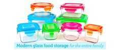 wean green | Glass Food Containers - don't break, dishwasher/microwave friendly. WOOHOO!
