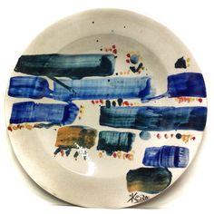 MORISHITA KEIZO (1944-2003) DIPINTO SUL PIATTO IN CERAMICA 52cm PEZZO UNICO ☲☲☲☲☲☲☲☲☲☲☲☲☲☲☲☲☲☲☲☲ PAINTING ON CERAMIC PLATE (unique piece)