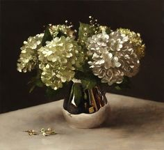 Hydrangeas in Silver by Sarah Lamb