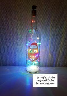 Bottle, Home Decor, Decorated Bottles, Decorate Bottles, Light Chain, Light Fixtures, Repurpose, Decoration Home, Room Decor