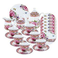 Roses and Tartan Deluxe Tea Set