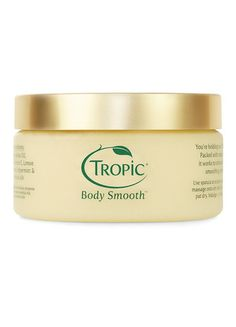 Our 100% Natural Body Smooth contains a blend of the finest pure plant & essential oils to stimulate skin renewal while dramatically smoothing, polishing & energising the skin We love it because it contains natural sea minerals that gently buff away dead skin cells and Vitamin E to rejuvenate & revitalise, leaving your skin feeling unbelievably smooth & soft.  Learn more at https://www.tropicskincare.co.uk/shop/gina/products.html