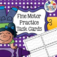 Fine Motor Skills Task Cards, Pre HandwritingThis download includes 53 different task cards. Each task card includes one type of fine motor/pre handwriting skill. Each page comes with 4 task cards on, I recommend printing them out and cutting them individually.