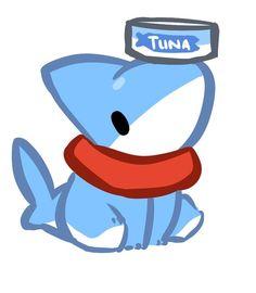 Cute art of shark pup Cute Animal Drawings, Kawaii Drawings, Cute Drawings, Pet Shark, Baby Shark, Anime Animals, Cute Animals, Cute Comics, Kawaii Cute