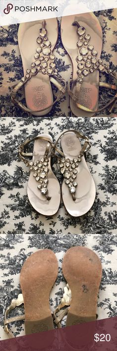 1bb0ba181dc717 Vince Camuto Sandals!🎀 Cute sparkly sandals! All beads are attached. You  can
