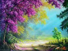 Resultado de imagem para caminhos pintura oleo #LandscapeOleo