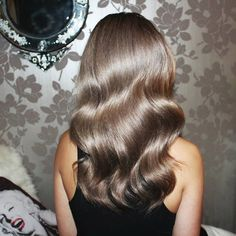 Beautiful Ash brown. Stunning!. I want this color with highlights and low lights. #hair #color