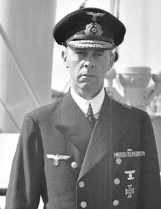 """■ Admiral Günther Lütjens (1889-1941).-  Befehlshaber der Aufklärungsstreitkräfte. KIA 27 May 1941 on board the Battleship """"Bismarck"""" in the Atlantic."""