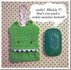 I think this is my new favorite blog!  Mom of 6 who sews all sorts of fun stuff for her kids.  Who doesn't need a soap monster?