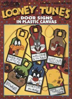 Cover Only Looney Tunes door signs LA-1690- plastic canvas