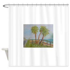 A1A in Flagler Beach, Florida Shower Curtain