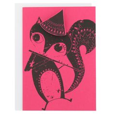 squirrel with flute pepito card at Paperchase