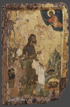 Religious Icons, Religious Art, Orthodox Catholic, Bible Illustrations, Russian Icons, Byzantine Art, John The Baptist, Orthodox Icons, Angel Art