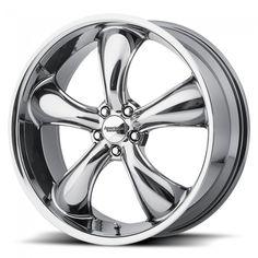 "American Racing TT60 Wheel, 2005-2014, Chrome, 20""x8.5"""