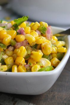 How to make Chipotle's Corn Salsa #simple #delicious #healthy