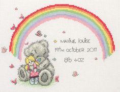 Rainbow Birth Sampler - Tatty Teddy Cross Stitch