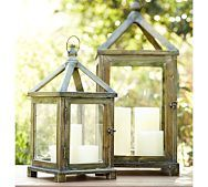 Upcycle old lanterns from garage sales or ones that have been thrown out and turn into bird feeders. Remove glass from lantern and hang in trees or hang on small shepard's hook in a flower bed. All you have to do is put a cup of bird seed inside.