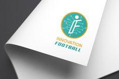 Diseño de logotipo de tecnología y deporte